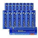 エネボルト(enevolt) 大容量 単3形充電池 3000mAh ニッケル水素充電池 自然放電軽減 繰り返し約1000回 充電 電池 16本セット