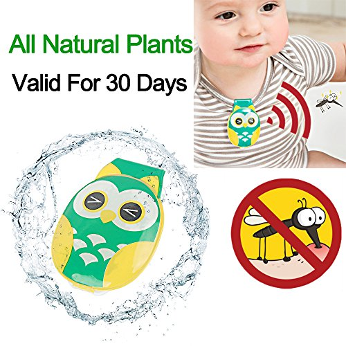 Baby Mosquito Repellent Clip, All Natural Plants Insect Protection for Babe Cribs, Infant Strollers and Kids Bed Nets - No DEET or Bug Sprays … (GREEN)
