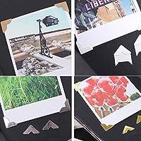 chiwanji 5枚 DIYフォトアルバム スクラップブック コーナー ステッカー PVC紙 保護 高品質 5色選ぶ - 白