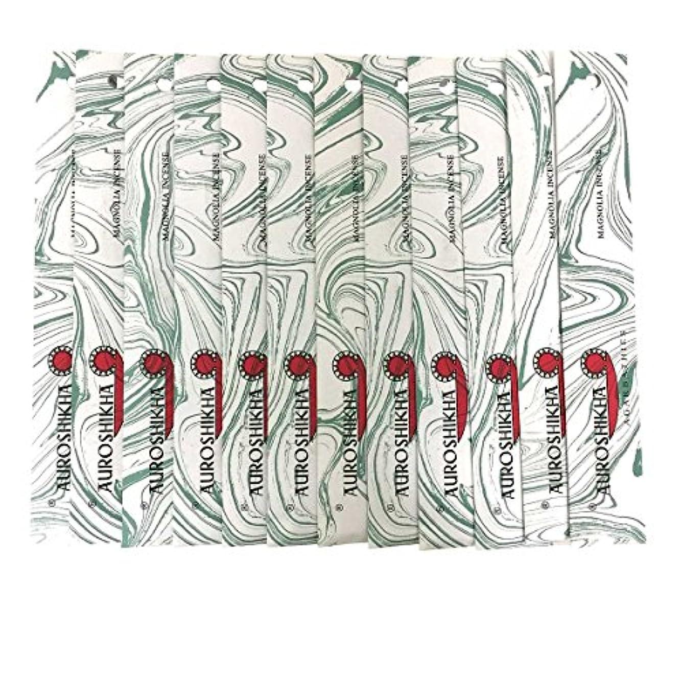 セミナーバドミントン消費するAUROSHIKHA オウロシカ(MAGNOLIAマグノリア12個セット) マーブルパッケージスティック 送料無料