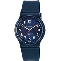 [シチズン Q&Q] 腕時計 アナログ 防水 ウレタンベルト VS04-002 メンズ メタリックブルー × ネイビー