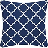 FBTS Prime Outdoor Decorative Pillows with Insert Navy Patio Accent Pillows Throw Covers 18x18 Inches Square Patio Cushions f