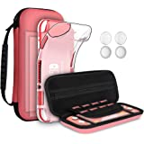 GeeRic 8PCS Case Compatible with Switch Lite, Accessories Kit Replacement for Switch Lite, 1 Soft Silicon Case + 2 Screen Pro