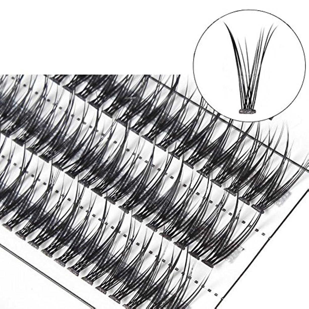 ジョブデッド有力者goupgolboll-女性交差グラフト個々の天然つけまつげまつげエクステ - 10 mm