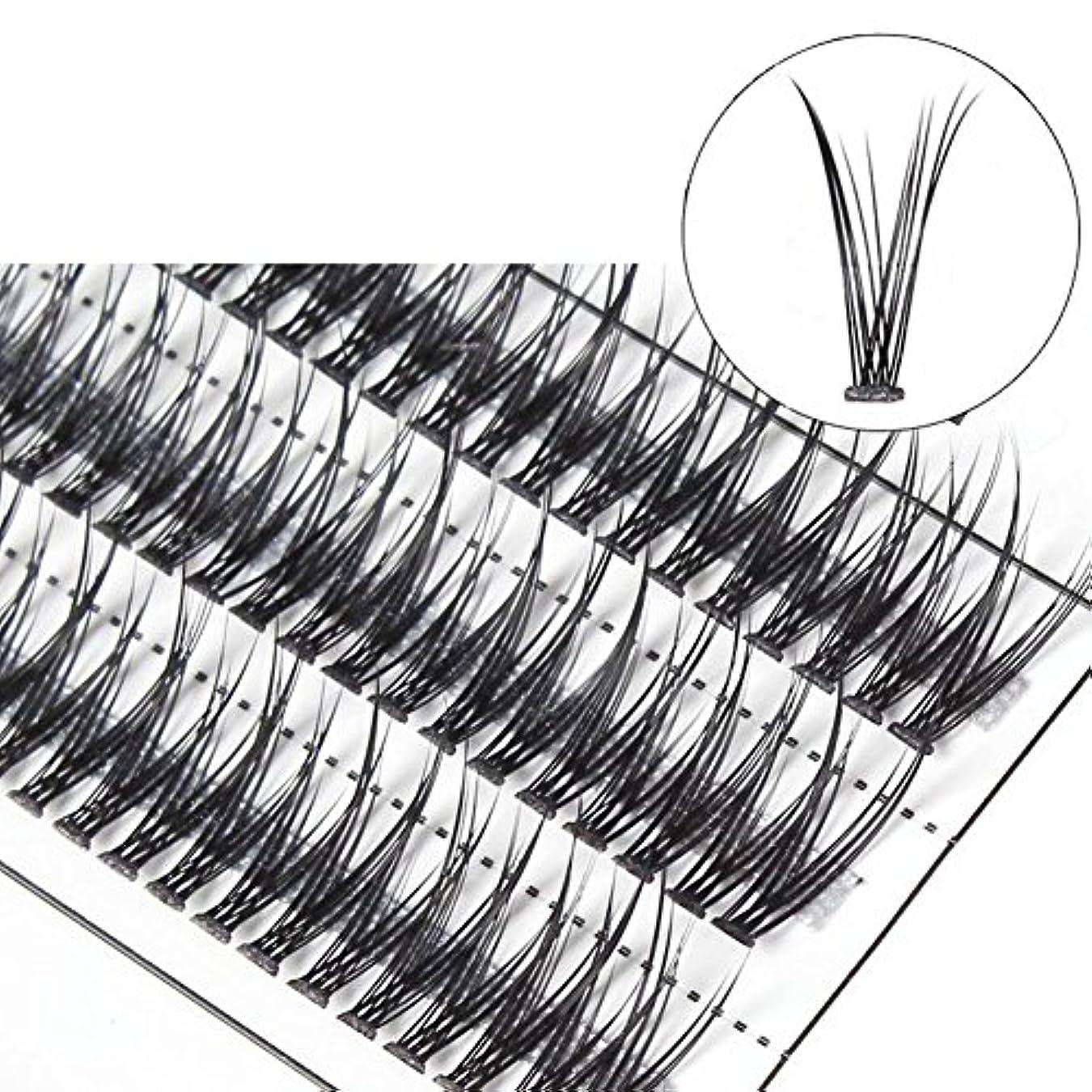 害医薬伝説goupgolboll-女性交差グラフト個々の天然つけまつげまつげエクステ - 10 mm