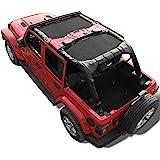 Shadeidea Jeep Wrangler Shade JLU4D-Combo Unlimited -Black Mesh Top Cover JLU4D-Combo Black