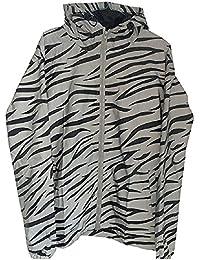lenoah反射フード付きジャケットメンズスポーツジャケットドレスコードWindbreaker Tigerパターン
