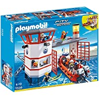 PLAYMOBIL Coast Guard Station with Lighthouse Play Set [並行輸入品]