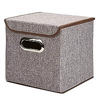 収納ラック ポータブル綿の衣類収納ボックス収納ボックスステンレス製の事務用品、ファイルストレージボックス デスクブックシェルフ (色 : グレー, サイズ : S(25*25*25cm))