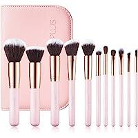 SIXPLUS メイクブラシ 11本セット 化粧ブラシ 化粧筆 柔らかい 描きやすい 粉含み力抜群 化粧ポーチ付き 化粧…