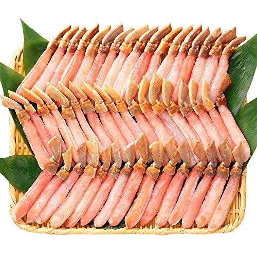 北国からの贈り物 ズワイガニ ポーション 足 むき身 カット 生 ずわい 訳あり 蟹 脚 1kg かに しゃぶ 約40本