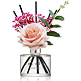 Cocod'or Rose Flower Reed Diffuser, Lovely Peony Reed Diffuser, Reed Diffuser Set, Oil Diffuser & Reed Diffuser Sticks, Home