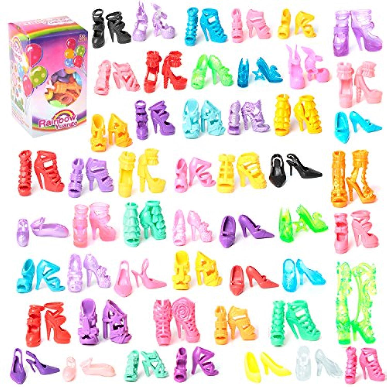カラフルなバービードール靴  ランダム 50ペアバービー人形用靴 アクセサリ 11.5?11.8インチのバービードール用 [並行輸入品]