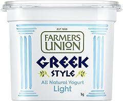 Farmers Union Natural Light Greek Style Yoghurt, 1kg - Chilled
