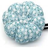 [在庫処分] Happiest かぼちゃ型 ピンクッション 針山 針刺し 裁縫道具 手首着用 ベルト付き 刺繍 ミシン 裁縫 作業 (ライトブルー)