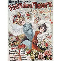 VINTAGE ADVERT FETE DES FLEURS FLOWER FAIR NEW FINE ART PRINT POSTER PICTURE 30x40 CMS ビンテージ広告花公正アートプリントポスター画像