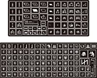 WWII ドイツ軍 武装親衛隊 戦術サイン&師団マーキングテンプレート [LW35020] WWII German Tactical Symbols & Unit Markings Waffen-SS