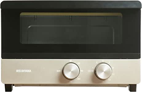 アイリスオーヤマ オーブントースター トースト 4枚 無段階 温度調整 機能付き シャンパンゴールド POT-412FM-N