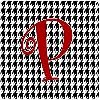 Carolines Treasures CJ1035-PFC Set of 4 Monogram - Houndstooth Black Foam Coasters Initial Letter P