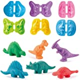 JHONG Playdough Toys Dinosaur World Play Dough Set Creations Tools for Kid with Animals