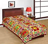 100% Cotton Rajasthani Traditional Single Bedsheet.