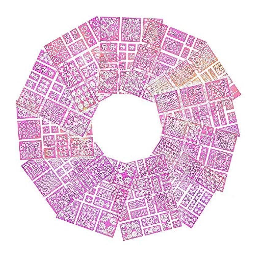 ペルー加入算術LATTCURE ネイルステッカー 「12枚セット/200個以上図柄」 ネイルシール 爪 透かしネイル ネイル用装飾 かわいい ネイティブ柄 多様な図柄 エコ素材
