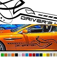 ユーロカーステッカー200■バイナルグラフィック車カスタムワイルドスピード系デカール(ブラック)★色変更可★