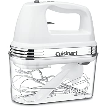 "Cuisinart Power Advantage Plus 9-speed Hand Mixer withストレージケース 8.9"" x 3.9"" x 8.5"" ホワイト ZPV-2541"