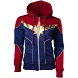 Endgame Captain Marvel Women Fashion Hoodies for Adults Red & Blue