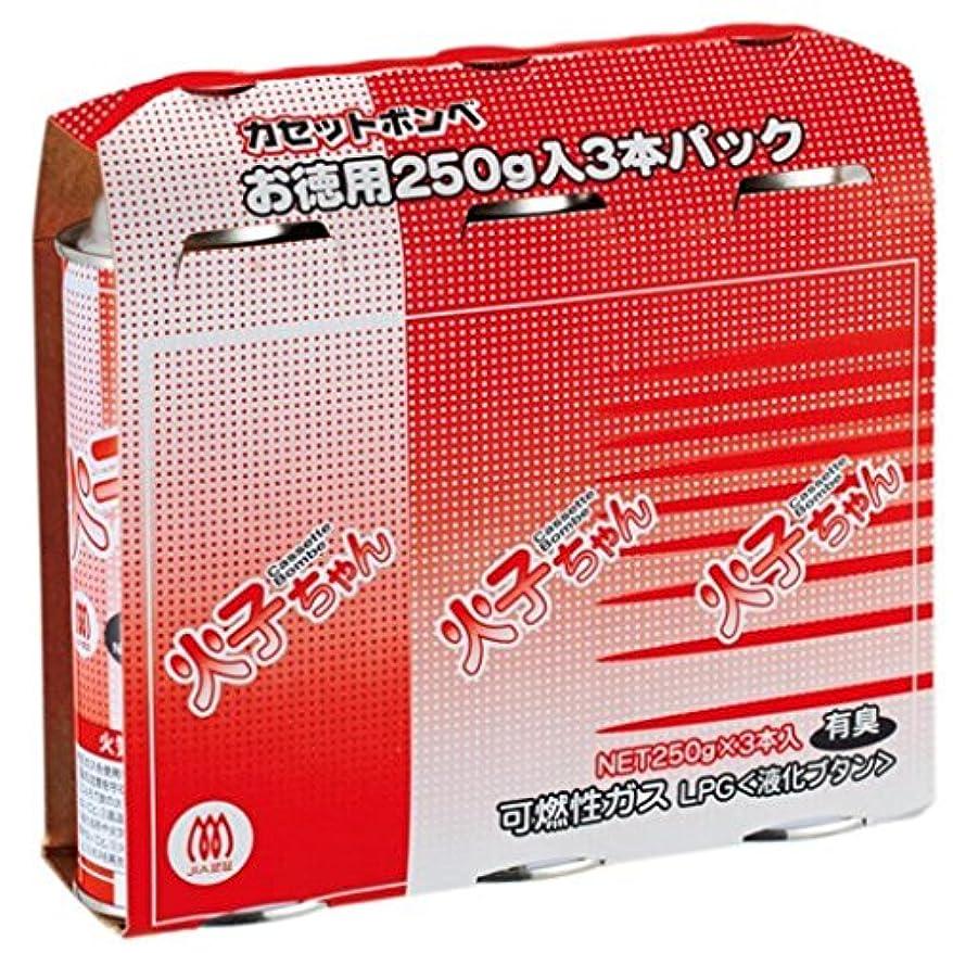 用心ごめんなさい垂直(まとめ買い)TTS カセットボンベ 火子ちゃん 3本入 【×8セット】
