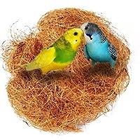UEETEK バードネイストココナッツネスト快適な鳥かごケージキット