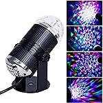 ADOGO RGB LED ミラーボール ステージライト サウンド ストロボ効果 舞台 イベント ホームパーティー カラオケ大会 クラブ バー ディスコ