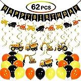 JoyJon 建設 誕生日パーティー用品 車 誕生日 吊り下げ スワール デコレーション 建設 パーティー デコレーションキット パーティー用品 ベビーシャワー 男の子 女の子 誕生日