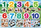 20ピース 子供向けパズル どうぶつをかぞえよう ピクチュアパズル