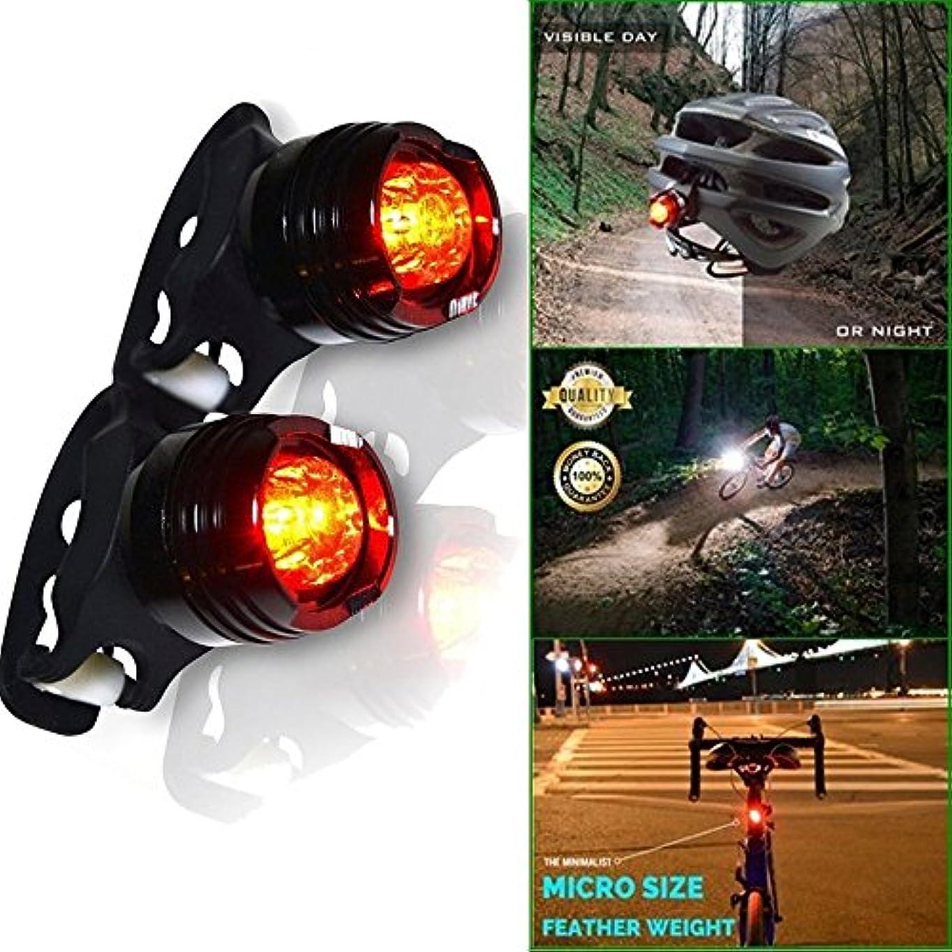 ふりをする線悲観的TangQI 自転車用ライト LED 二つ 強力 高輝度 3モード 4 x CR2032リチウム電池 明るい 他の自動車に注意される 自転車アクセサリー シンプル 簡単に取り付け 軽量 高品質 頑丈 耐久性