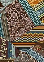 ポスター ウォールステッカー シール式ステッカー 飾り 728×1030㎜ B1 写真 フォト 壁 インテリア おしゃれ 剥がせる wall sticker poster pb1wsxxxxx-007867-ds ユニーク 花 フラワー 模様 青 水色