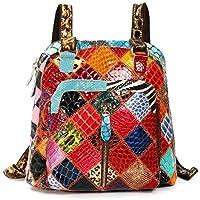 OURBAG 女性のための女性の本物の革のバックパックの財布レディースショルダーバッグの学校のバッグ