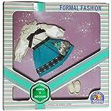 チャーミーツイン アンナ&ノゾミ フォーマルファッション 白色のブラウスと青のスカート 0400494