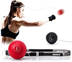 TEKXYZ Boxing Reflex Ball, 2 Difficulty Level Boxing Ball with Headband, Softer Than Tennis Ball, Perfect for Reaction,...
