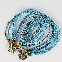 SMBATI サンバティ 6連 ブレスレット turquoise×turquoise×brass THB-3172 (ターコイズ×ターコイズ×ブラス)