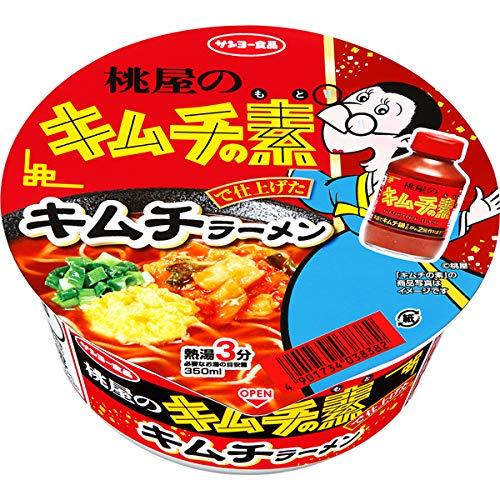 サンヨー食品 「桃屋のキムチの素」で仕上げた キムチラーメン 69g×12個入り (1ケース)