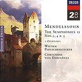 Mendelssohn Symphonies Nos.3 5 3 Overtures