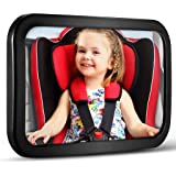 Baby Car Mirror, DARVIQS Car Seat Mirror, Safely Monitor Infant Child in Rear Facing Car Seat, Wide View Shatterproof Adjusta