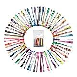 60色ジェルインクボールペン+替芯 サウスサン カラーペンセット 塗り絵 秘密の庭園 60カラー+替芯セット