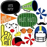 Sports Party - Photo Booth Props Kit - 20 Count