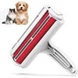 Pet Hair Remover Roller - Dog & Cat Fur Remover with Self-Cleaning Base - Efficient Double Sided Animal Hair Removal Tool - P