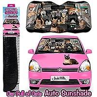 Car Full of Cats Auto Sunshade フルオブキャット サンシェード/車の中に猫がいっぱーい!猫好きさんにおすすめ!車用サンシェード