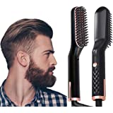 AU PLUG Beard & Hair Straightener Brush for Men & Women, Anti-Scald Quick Hot Comb, Fast Shipment from AU Warehouse, 1 Count