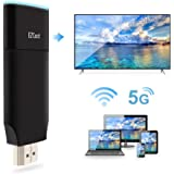 EZCast 2 WiFi Display Dongle for TV, 1080P 2.4G&5G Dual Core Dual Decoder, Concurrent AP-Router P2P Connection, Support iOS A