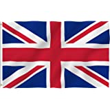 ANLEY® [Fly Breeze] 3x5 Foot United Kingdom UK Flag - Vivid Color and UV Fade Resistant - Canvas Header and Double Stitched -